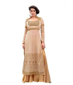 Lucky Infra Beige Georgette Gowns