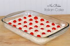 No Bake Italian Cake: The simplest and most delicious dessert you'll ever make! #SoFabFood