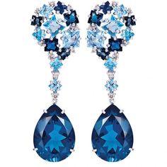 Topaz and diamonds earrings by Vianna