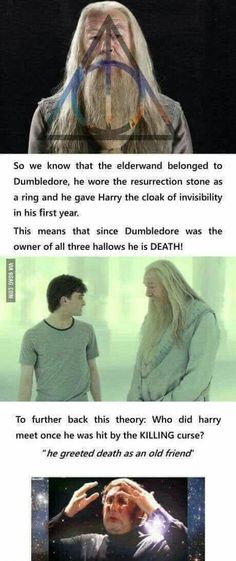 He is the only wizard Voldemort ever feared. Because Voldemort feared death which is why he created horcruxes. Harry Potter Theories, Harry Potter Puns, Potter Facts, Harry Potter Universal, Harry Potter World, Harry Potter Funny Quotes, Harry Potter Fun Facts, Harry Potter Voldemort, Harry Potter Thema