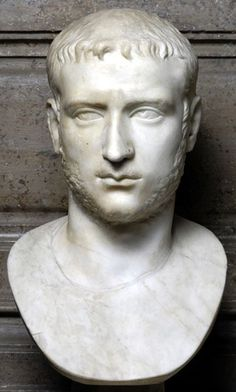 Emperor Gallienus, Roman bust (marble), 3rd century AD, (Palazzo Nuovo, Rome).