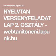 NYELVTAN VERSENYFELADATLAP 2. OSZTÁLY - webtanitoneni.lapunk.hu