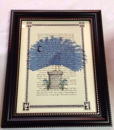 Vintage Book Art  Proud Peacock by DesignPerspective on Etsy, $8.00