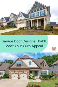 A cost effective way to boost your property's value while increasing your curb appeal is to replace your garage door. Have a look at our detailed guide on garage doors and find the right door design for your home exterior. Garage Renovation, Garage Remodel, Garage Makeover, Small Outdoor Patios, Outdoor Spaces, Garage Door Design, Garage Doors, Budget Patio, Traditional Doors