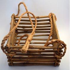 Vintage Hanging Bamboo Basket