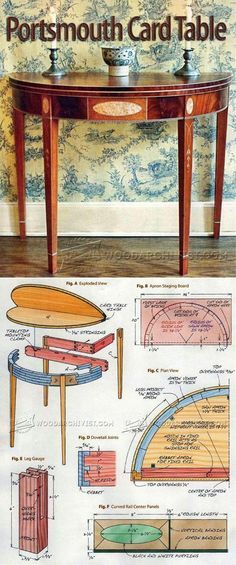 Portsmouth Card Table Plans - Furniture Plans and Projects | WoodArchivist.com