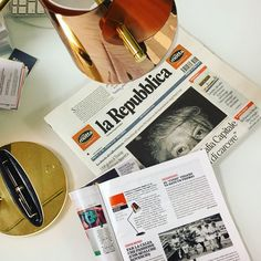 """Overlay, designed by Analogia Project and realised in collaboration with Montblanc, shines today on the pages of """"il venerdi"""" out with la Repubblica. Don't miss it! www.slamp.com / #slampreview"""