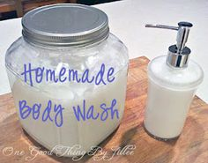 """A """"homemade"""" version of my favorite body wash in less than 30 minutes for almost 75% less $$!"""