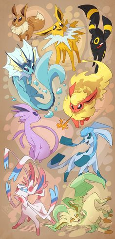 All the Eeveelutions : Photo