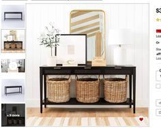 Black Entryway Table, Living Spaces, Living Room, Low Shelves, Furniture Hardware, Inspired Homes, Console Table, Decor Styles, Consoles