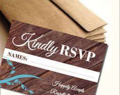 Rustic Teal Wedding RSVP - Edit Listing - Etsy