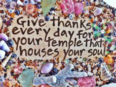 Give thanks every day for your temple that houses your soul. ♥ #gratitude