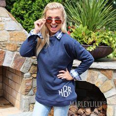 Monogrammed Sweatshirt Tunic | Marleylilly