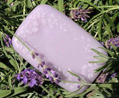 Provence Lavender Soap 5.6 oz - Organic extra virgin olive oil, coconut, and palm oils, castor oil, safflower oil, vegetable glycerine, purified water, lye, botanical extracts, essential oil, vegetable color.  Pure olive oil soap combines with shea butter and Provencal lavender essential oil to pamper your skin, balance and calm your emotions. The aroma also relieves headaches and is very relaxing. Great for all skin types, lavender is a natural antibacterial and wrinkle fighter.