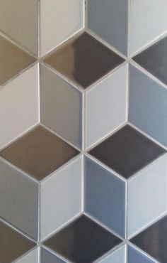 """""""Nero Trio Cube - Gloss"""", available in 300 x 343mm. Contact Perini Tiles: 03 9421 0550 and quote code: T14261."""
