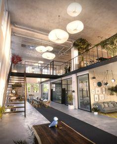 Galjaden Office, Stockholm, Västerås  Interior design, Scandinavian design, 3D visualisation, render, archviz,  3Ds Max