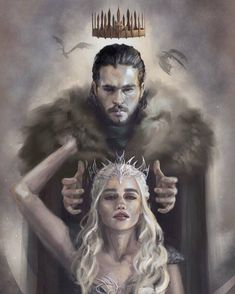 Game of Thrones fan art, Daenerys Targaryen, Jon Snow, Jonerys Jon Snow And Daenerys, Game Of Throne Daenerys, Daenerys Targaryen Art, Deanerys Targaryen, Jon Targaryen, Dessin Game Of Thrones, Arte Game Of Thrones, Game Of Thrones Dragons, Fantasy Art