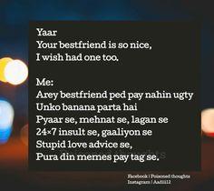 Boht mehnat se bnayee hain ye best friends