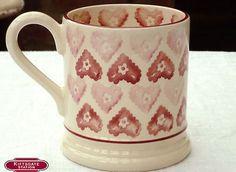 Doily Hearts 0.5 Pint Mug SAMPLE 21 Years Emma Bridgewater (2006)