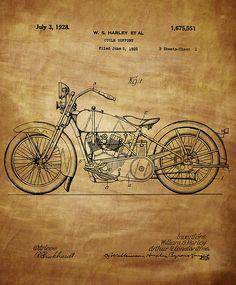 Harley Davidson Motorcycle Patent 1925 - Chris Smith