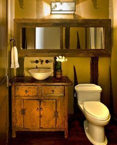 Banheiro rústico                                                       …
