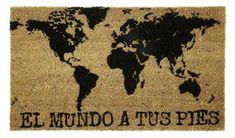 Felpudo 'El Mundo a Tus Pies' Es de www.tatamba.com