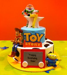 Toy Story Birthday Cake - favorite part is that Happy Birthday is written on the Etch-A-Sketch