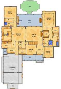 4-Bed Designer's Dream Home Plan - 510017WDY floor plan - Main Level