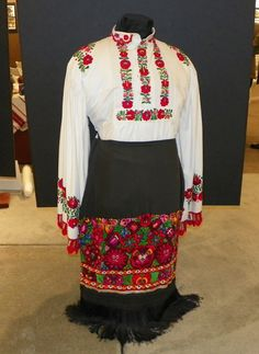 Traditional Hungarian costumes in the Hungarian Heritage Museum in Cleveland Ohio USA