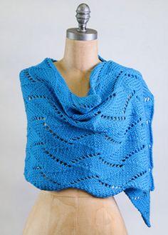 NobleKnits.com - Blue Sky Extra Cane Bay Wrap Knitting Pattern, $8.95 (http://www.nobleknits.com/blue-sky-extra-cane-bay-wrap-knitting-pattern/)