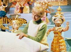 "Disney Legend and Imagineer Mary Blair inside of ""it's a small world."""