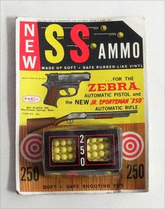 Ohhh, I loved my zebra gun with these little rubbery ammo balls.
