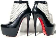 Christian Louboutin Resillissima Lace Illusion Platform Bootie - Neiman Marcus ill take a pair of these please ST 5 Cute Shoes, Me Too Shoes, Manolo Blahnik Heels, Walk This Way, Dream Shoes, Christian Louboutin, Louboutin Shoes, Shoe Boots, Ankle Boots