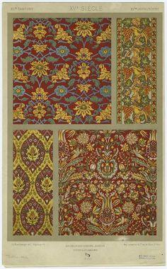 L''ornement des tissus. (Paris : Ducher, 1877) Dupont-Auberville, A. , Author. Bachelin-Deflorenne, Antoine (b. 1835), Editor.