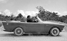 The Sunbeam Alpine was the first Bond-owned car viewers ever saw, helping him evade a sinister hearse in a hilariously old-school chase scene from 'Dr. James Bond Cars, James Bond Movies, Wolverhampton, Sean Connery Bond, Convertible, Automobile, Car Gadgets, Mini Trucks, Fast Cars