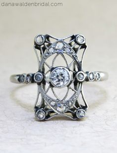 """Antique Engagement Rings from Dana Walden Bridal, NYC - """"Nadya"""""""