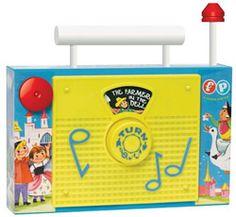 réédition des jouets Fisher Price