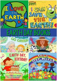 Earth Day Books for Preschool. A list of the best books to read aloud in your Preschool or Pre-K classroom for teaching and learning about Earth Day #preschool #earthday