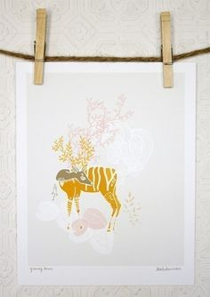 deer print -- this is where the inspiration all started.