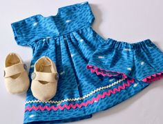 Summer Play Dress for Doll by PhoebeandEgg on Etsy, $33.00