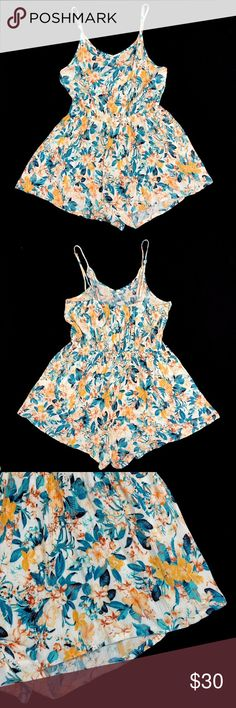 💙Freebird Floral Jumpsuit Shorts Freebird multicolor floral jumpsuit shorts.  Size: Large  Material: 100% rayon.  New without tags. It shows no wear or flaws.  Thank you for visiting my store!😘 Please review pictures, this item comes from a pet & smoke-free home😊 Freebird by Steven Tops
