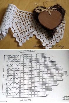 Crochet Edging Patterns, Crochet Borders, Crochet Flowers, Crochet Lace, Crochet Curtains, Crochet Decoration, Crochet Kitchen, Crochet Baby Clothes, Lace Knitting