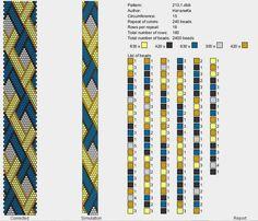 This Pin was discovered by Pir Crochet Bracelet Pattern, Crochet Beaded Bracelets, Beaded Necklace Patterns, Bead Crochet Patterns, Bead Crochet Rope, Bead Loom Bracelets, Peyote Patterns, Beading Patterns, Beaded Crochet