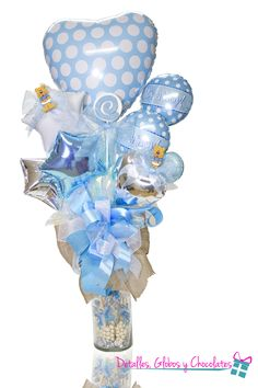Its a boy Fiesta Decorations, Balloon Decorations Party, Balloon Centerpieces, Baby Shower Centerpieces, Balloon Box, Balloon Gift, Balloon Bouquet, Baby Ballon, Baby Shower Balloons