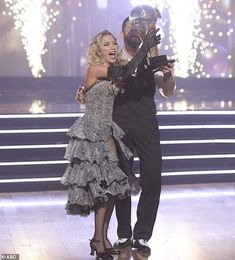 Coveted trophy: The Mirrorball Trophy was held up by Kaitlyn and Artem Artem Chigvintsev, Kaitlyn Bristowe, Dancing With The Stars, Hold On, Dance, Dancing, Naruto Sad