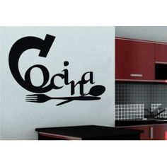 1000 images about vinilos para cocina on pinterest wall Cubiertos decorativos para pared
