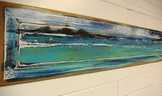Original Painting - Call of the Islands - Beach House Art Whale Humpback Migration Hawaii Door Panel Painting