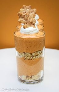 Pumpkin pie mousse parfaits.