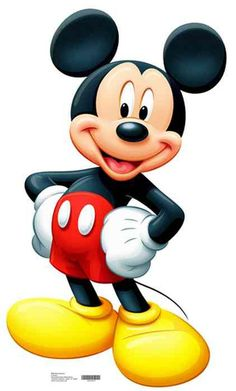 Mickey Mouse is wearing his red pants and yellow shoes. His white gloved hands are on his hips and he is grinning. This is a great addition to any Mickey Mouse