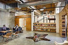 concrete, plywood, logs, open ceiling